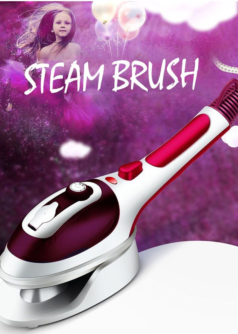 220V Handheld Garment Steamer Portable Steam Iron for Clothes Household Steam Brush Ceramic Soleplate Electric Iron Steamer