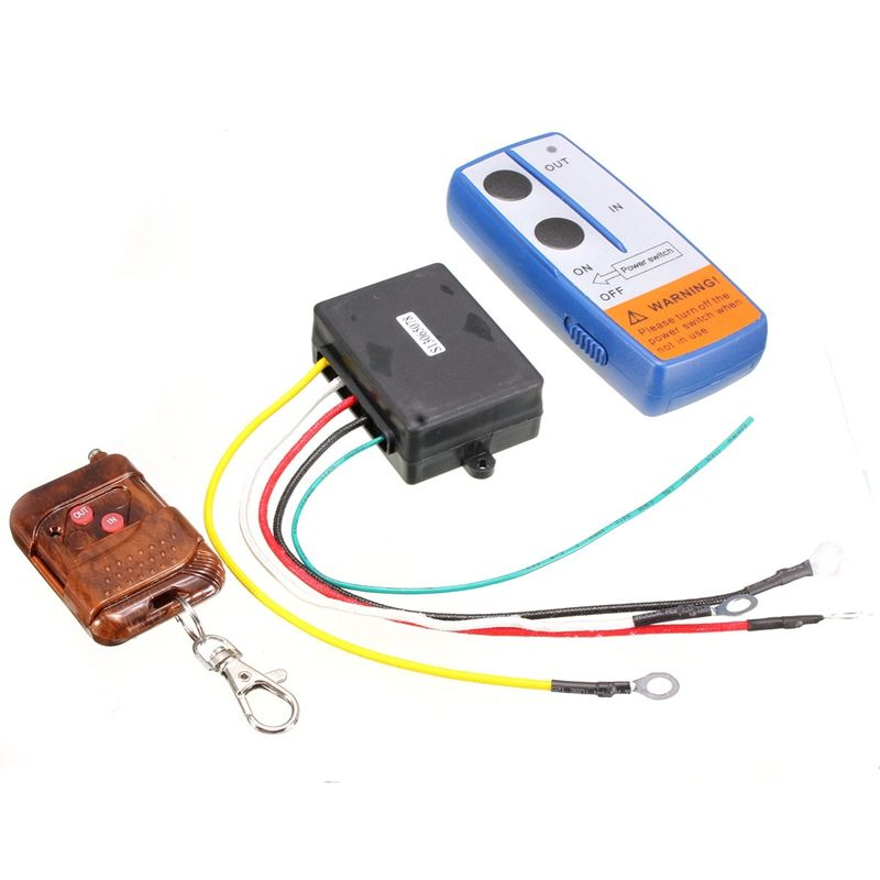 KROAK Universal 3Pcs/Set 75 Feet Winch Wireless Remote Key Fob Keychain Remote Controller Kits for Tuff Stuff 12V