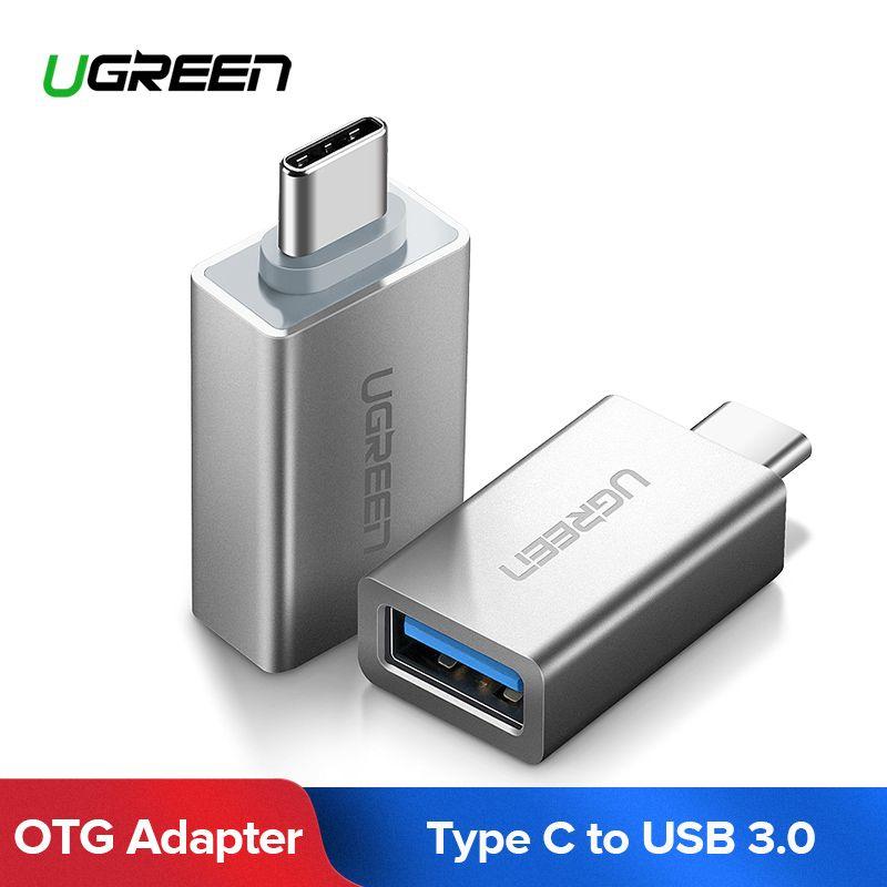 Ugreen USB Typ C Adapter USB C Männlichen zu USB 3.0 Weibliche USB OTG Adapter Konverter Für Xiaomi Oneplus LG Nexus 5X6 p Typ-C Draht
