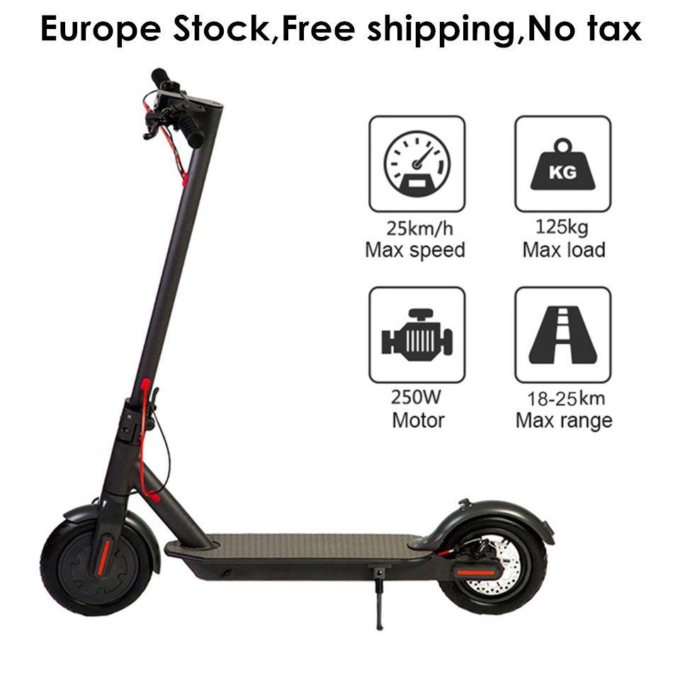 Europa Lager 8,5 zoll Klapp Elektrische Roller IP54 25 km Laufleistung Erwachsene Faltbare Elektrische Tretroller 8,5