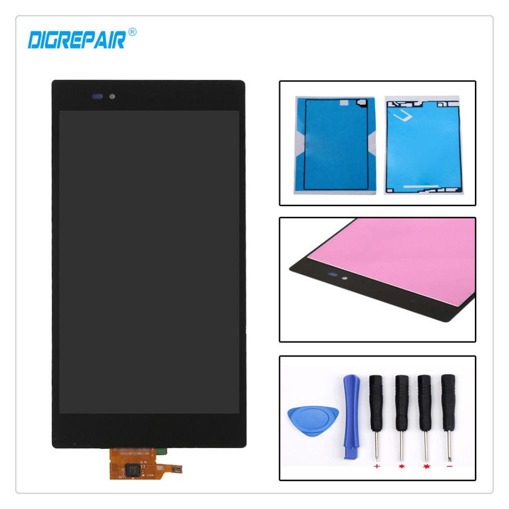 Noir Pour Sony Xperia Z Ultra XL39h XL39 C6802 C6806 C6843 C6833 LCD Affichage Digitizer Écran Tactile Assemblée Partie + adhésif + Outils