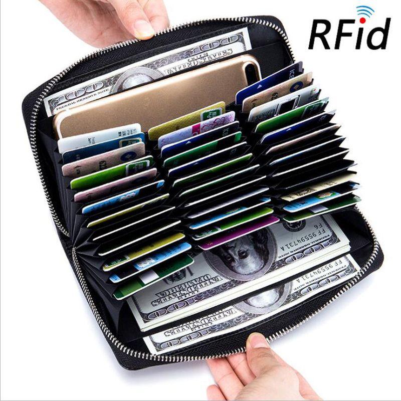 Анти RFID Блокировка держатель кредитной карты женские кожаные высокая производительность визитница RFID Чехлы для мангала для кредитных карт...