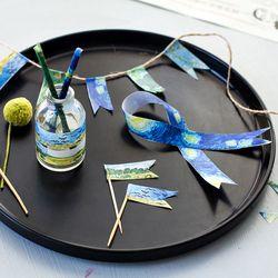 24 pcs/Lot Baru Minyak lukisan kertas washi kaset Van Goah satrry 15mm * 7 m dekoratif masking stiker untuk perlengkapan sekolah diary 7002