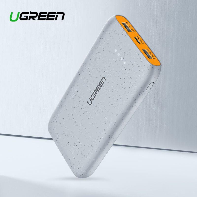 Ugreen Power Bank 20000mAh Slim Powerbank For Xiaomi Mi 8 Portable External Battery Charger For iPhone 7 8 X Dual USB Pover Bank