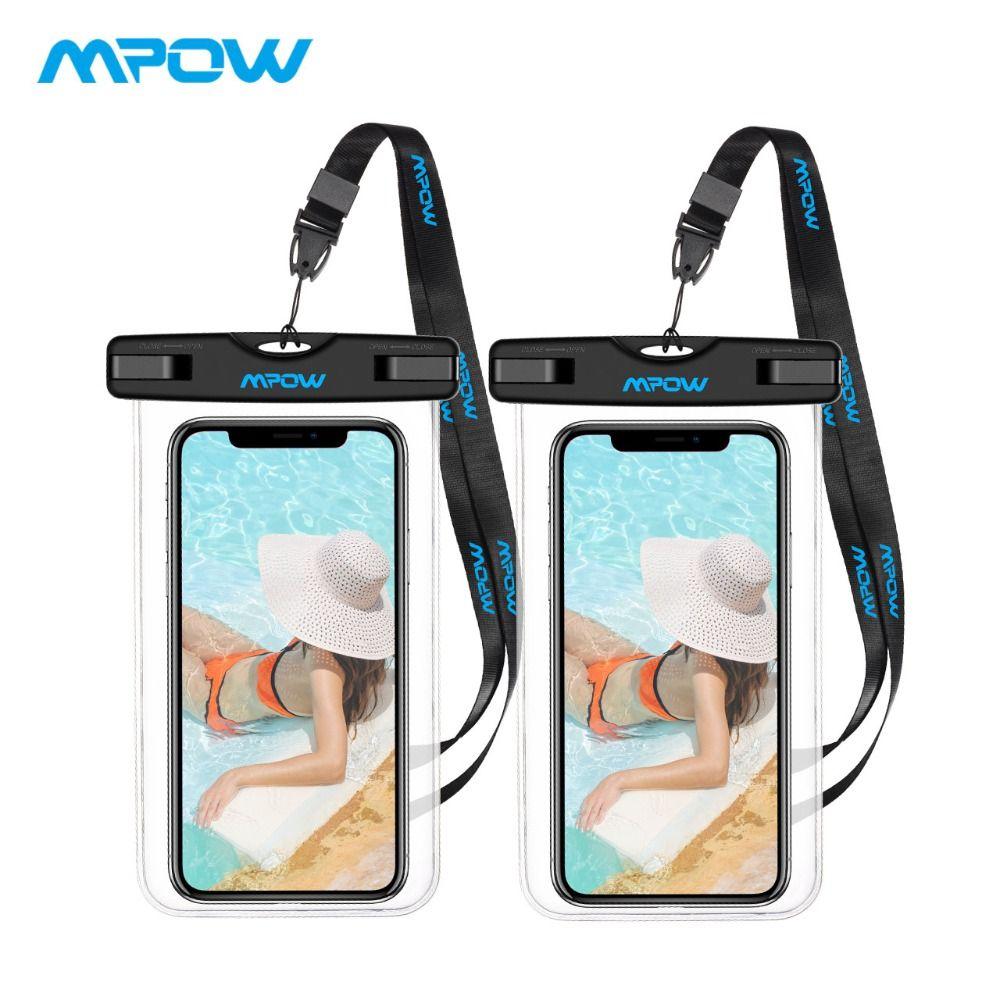 Mpow 2 Pack universel 6.0 pouces IPX8 étanche pochette de téléphone en plein air Sport sac pochette moins cher couverture pour iPhone X/8/8 plus/7/7 plus