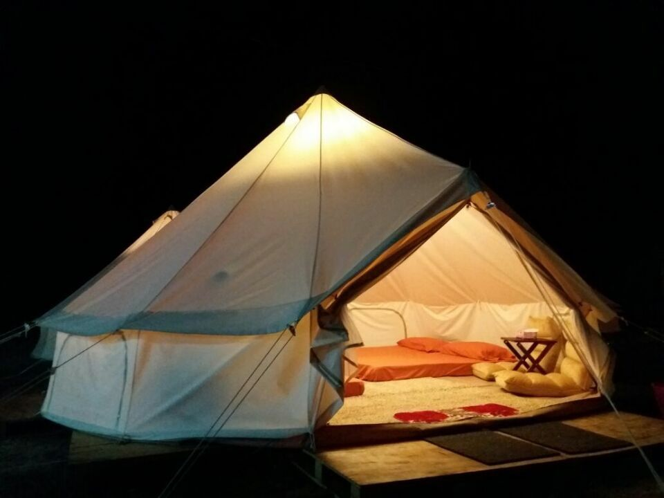 5M Dia rip stop 900D oxford canvas waterproof and fireproof bell tent
