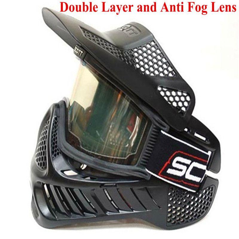 Paintball Maske oder airsoft Maske mit doppellinse Goggle Kostenloser versand