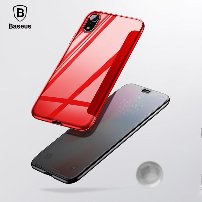 Baseus роскошные закаленное Стекло Filp чехол для iPhone Xs Max 2018 Chic полный охват защитный чехол для iPhone Xs XR крышка