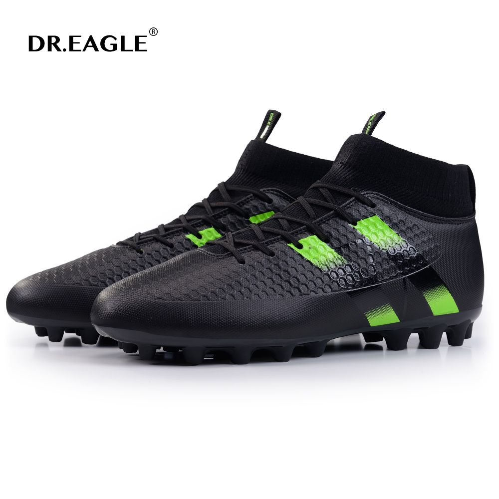 DR.EAGLE spike soccer football shoes high ankle men crampon football boots superfly original cleats futzalki football sneakers