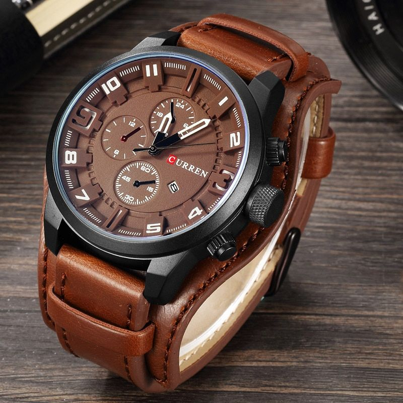 Curren 8225 armée militaire Quartz hommes montres Top marque de luxe en cuir hommes montre décontracté Sport mâle horloge montre Relogio Masculino