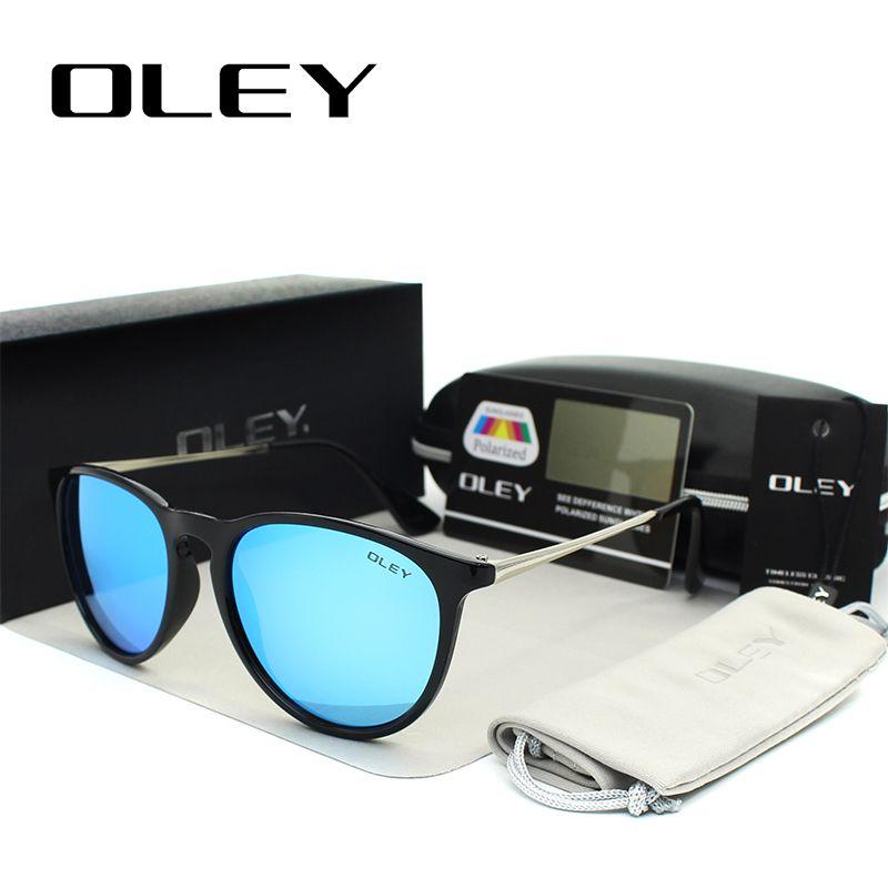 OLEY lunettes de soleil polarisées femmes rétro Style métal cadre lunettes de soleil revêtement célèbre dame marque Designer Feminino Y4171