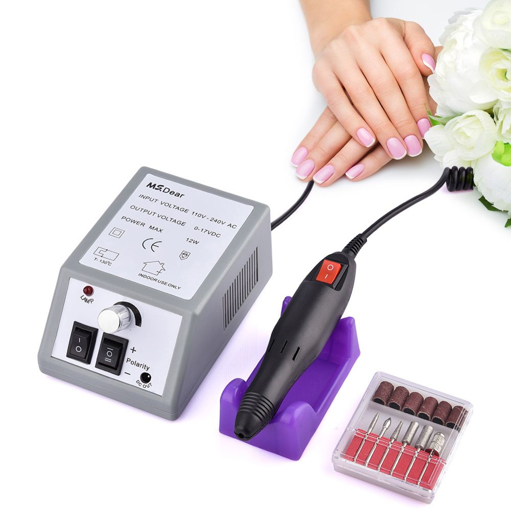 20000RPM Electric File Drill Nail Art Bit Professional Manicure Grinding Machine Pedicure Polisher Tools Adjustable Nail Beauty