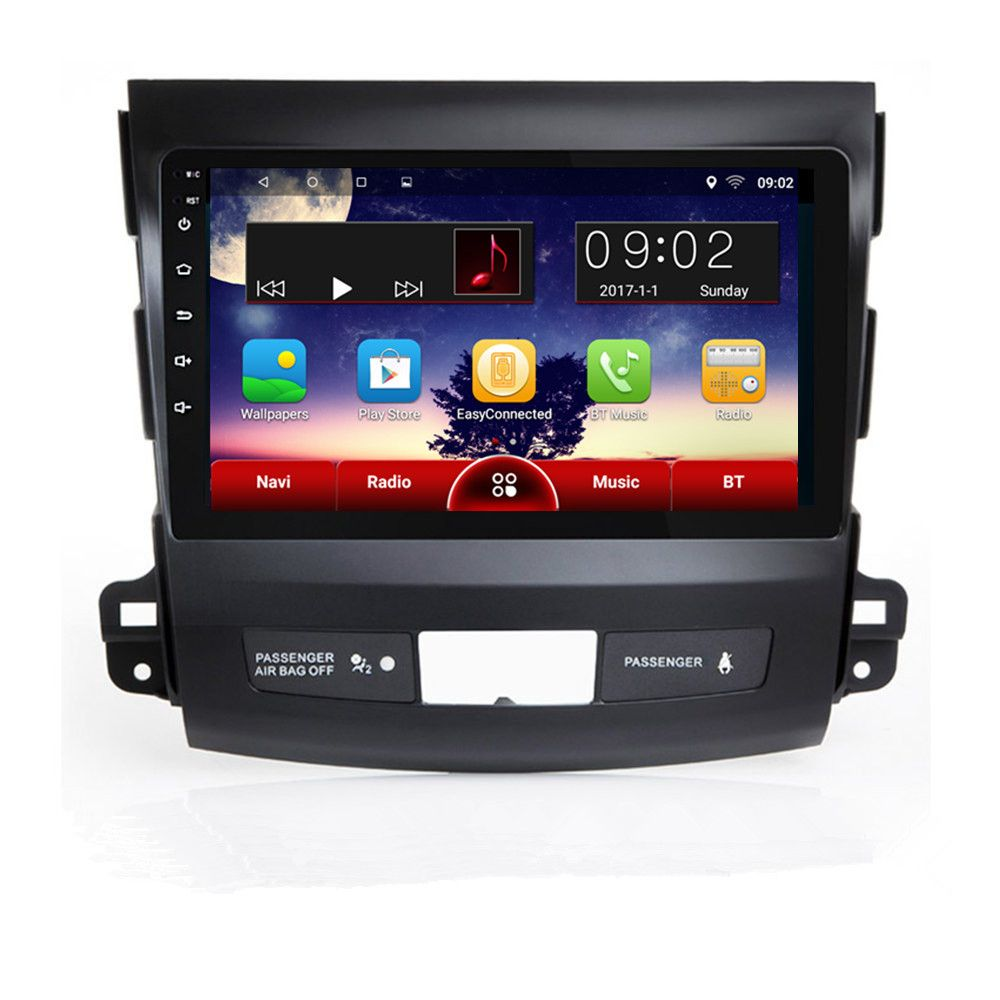 CHOGATH 1G RAM, 16G ROM Android 6.1 Car GPS Navigation Player for Mitsubishi Outlander 2006-2014 Canbus Optional