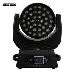 Бесплатная светодио дный LED 36 светодио дный 18 Вт LED Zoom движущаяся головка 6в1 RGBWA UV Wash DMX контроллер для ночного клуба DJ дисковечерние тека Свад...