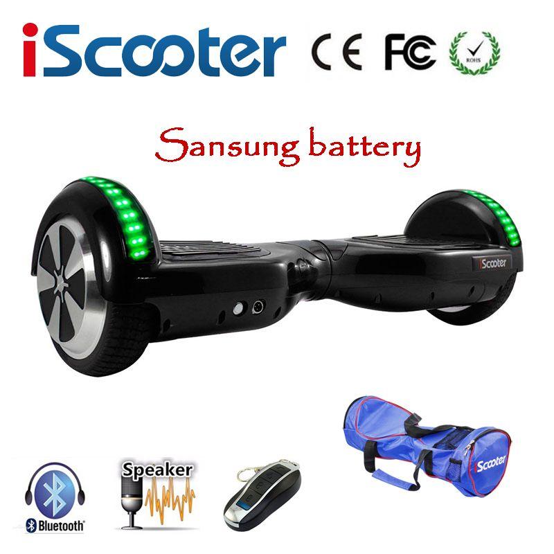 Sasung Batterie Elektrische Roller Hoverboard6.5 zoll Zwei Rädern Selbst Ausgleich Roller Elektrische Skateboard hoverboards Mit LED