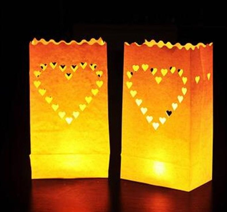 Festival Lantern Paper Lantern Candle Bag Outdoor Lighting Candles for Wedding Decorations Event Pary Supplies 4 Patterns