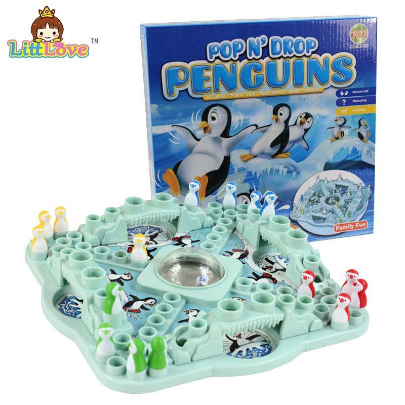 LittLove Famille Jeu de La Concurrence POP N'drop Pingouins Jouets Conseil D'échecs Parent-Enfant Drôle Jeu Puzzle Classique Bureau Jouets
