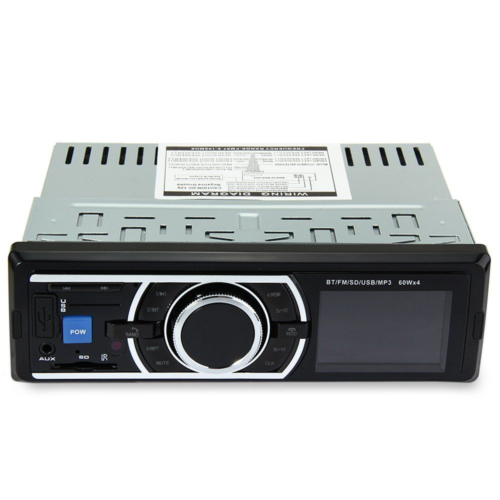 12 V Auto DVD Inneren Styling Stereo In-Dash FM Radio MP3 Audio Player Unterstützung Bluetooth Unterstützung Uhr Anzeigt während Power Off