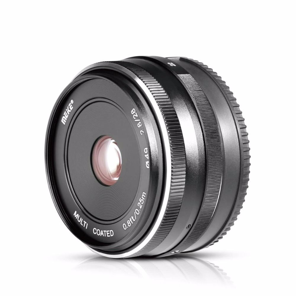 MEKE 28mm f/2.8 Fixed Manual Focus Lens for Olympus Panasonic M4/3 System APS-C Mirrorless Camera EM1 M10 EP5 EP-L3 PEN-7 GF5 G