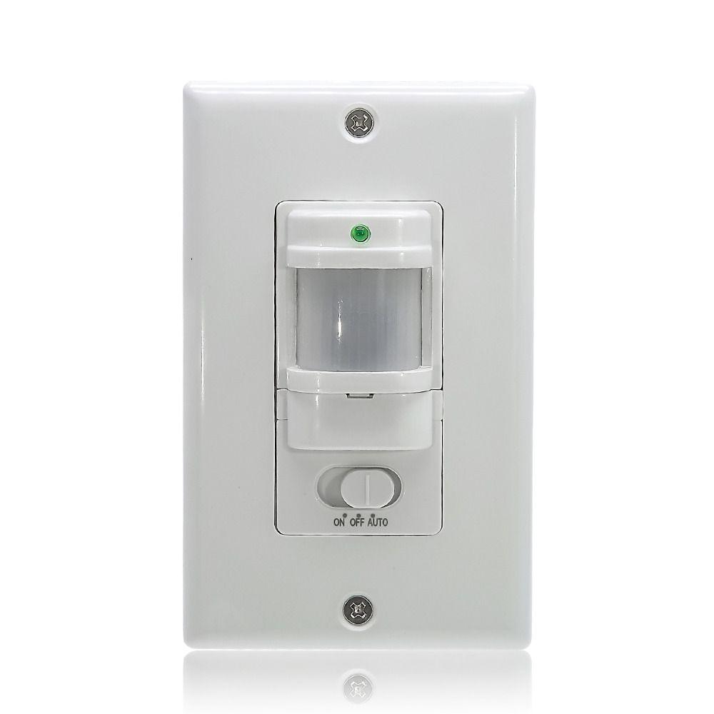 110 V ~ 220 V SUR OFF AUTO Wall Mount Motion Sensor Commutateur Automatique PIR Capteur Infrarouge Interrupteur avec 9 m Max (ET033)