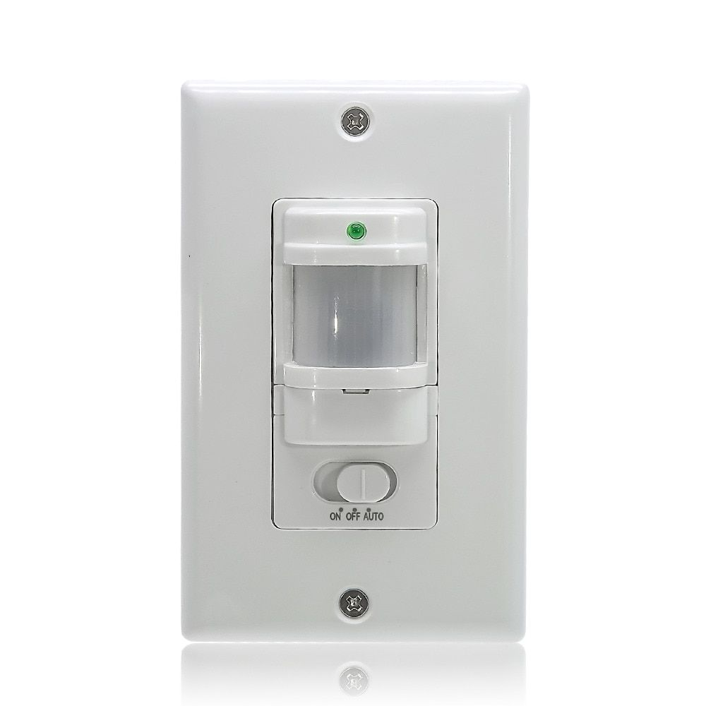 110V~220V ON OFF AUTO Wall Mount Motion Sensor Switch Automatic PIR Infrared Sensor Light Switch with 9m Max (ET033)