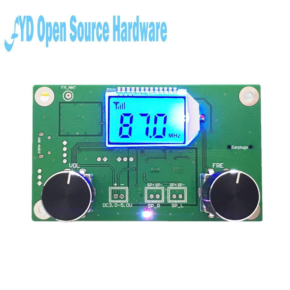 1pcs 87-108MHz DSP&PLL LCD Stereo Digital FM Radio Receiver Module + Serial Control