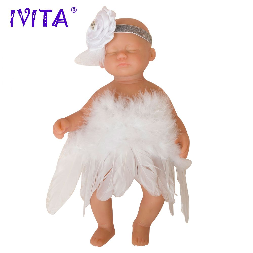 IVITA 15inch/1.8kg Girl Eyes Closed High Quality Silicone Reborn Dolls Babies Baby Born Full Body Alive Doll With Clothes Toys
