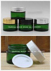 30G hijau kaca botol/jar untuk serum/cream/masker esensi/eye gel/pelembab/perawatan kulit kosmetik kemasan jar/pot