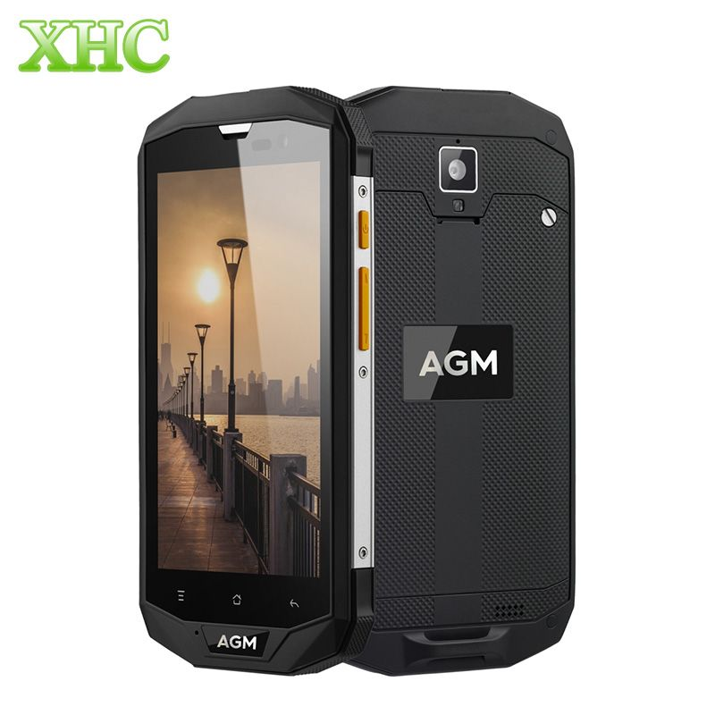 AGM A8 IP68 Waterproof Mobile Phone 5.0'' MSM8916 Quad Core 4050mAh Android 7.0 Smartphone 3GB RAM 32GB ROM 4G LTE NFC Cellphone