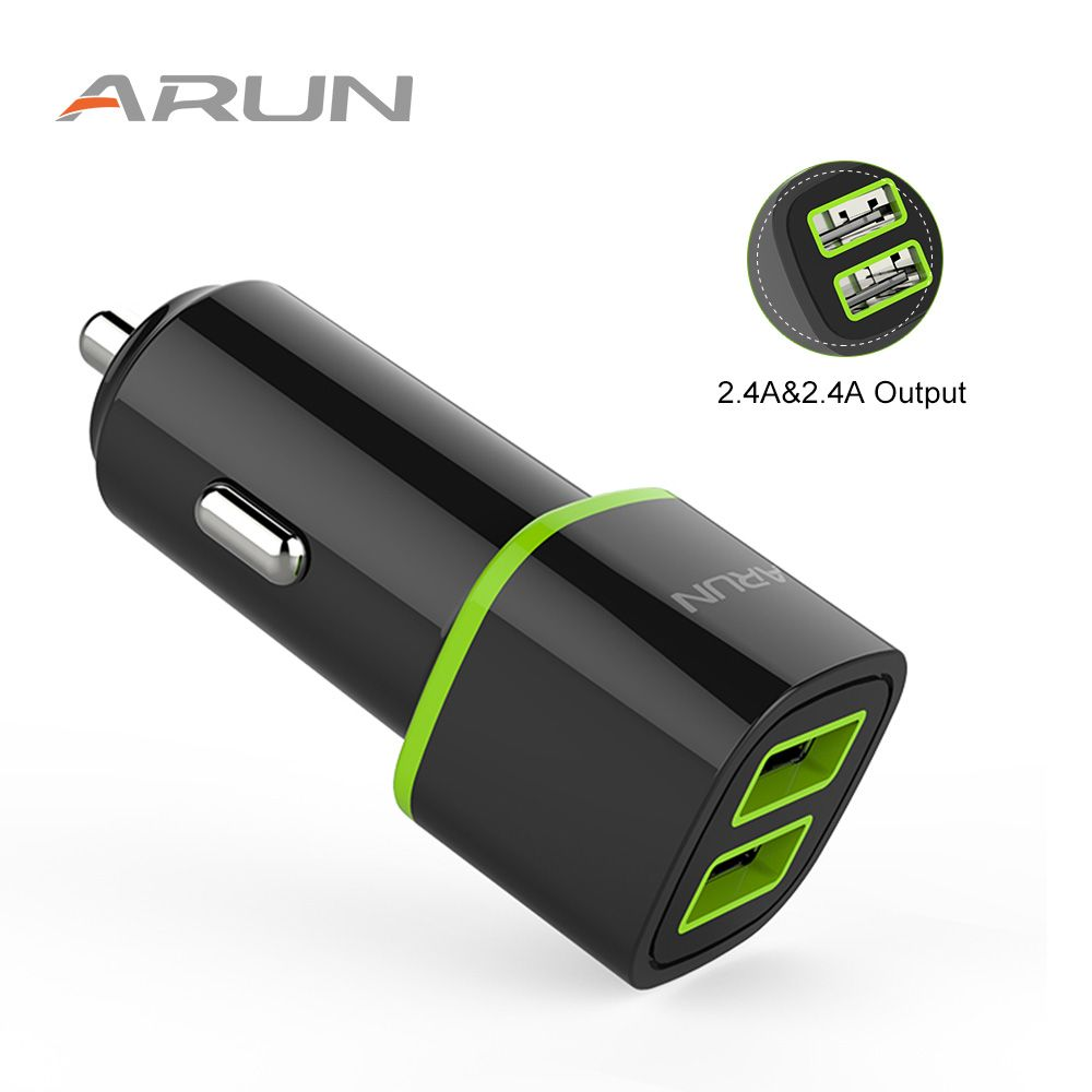 ARUN Dual High Powered Output Travel &Home Universal Quick USB Car Charger For Xiaomi Mi4 5 Phone Samsung Galaxy S7 S6 Note HTC