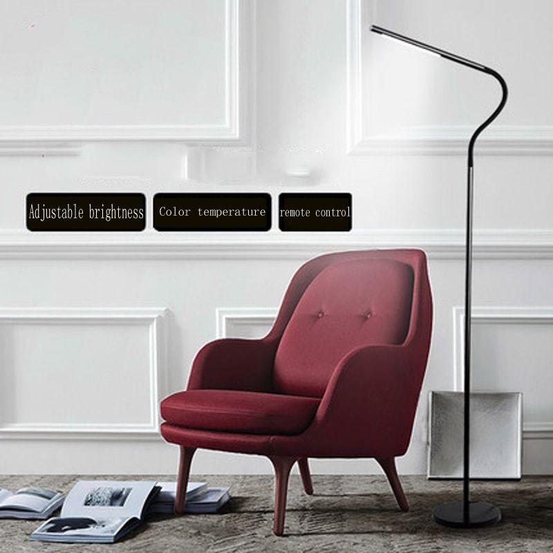 Led floor lamp living room bedroom study office floor lamp Nordic minimalist modern piano reading eye vertical desk lamp