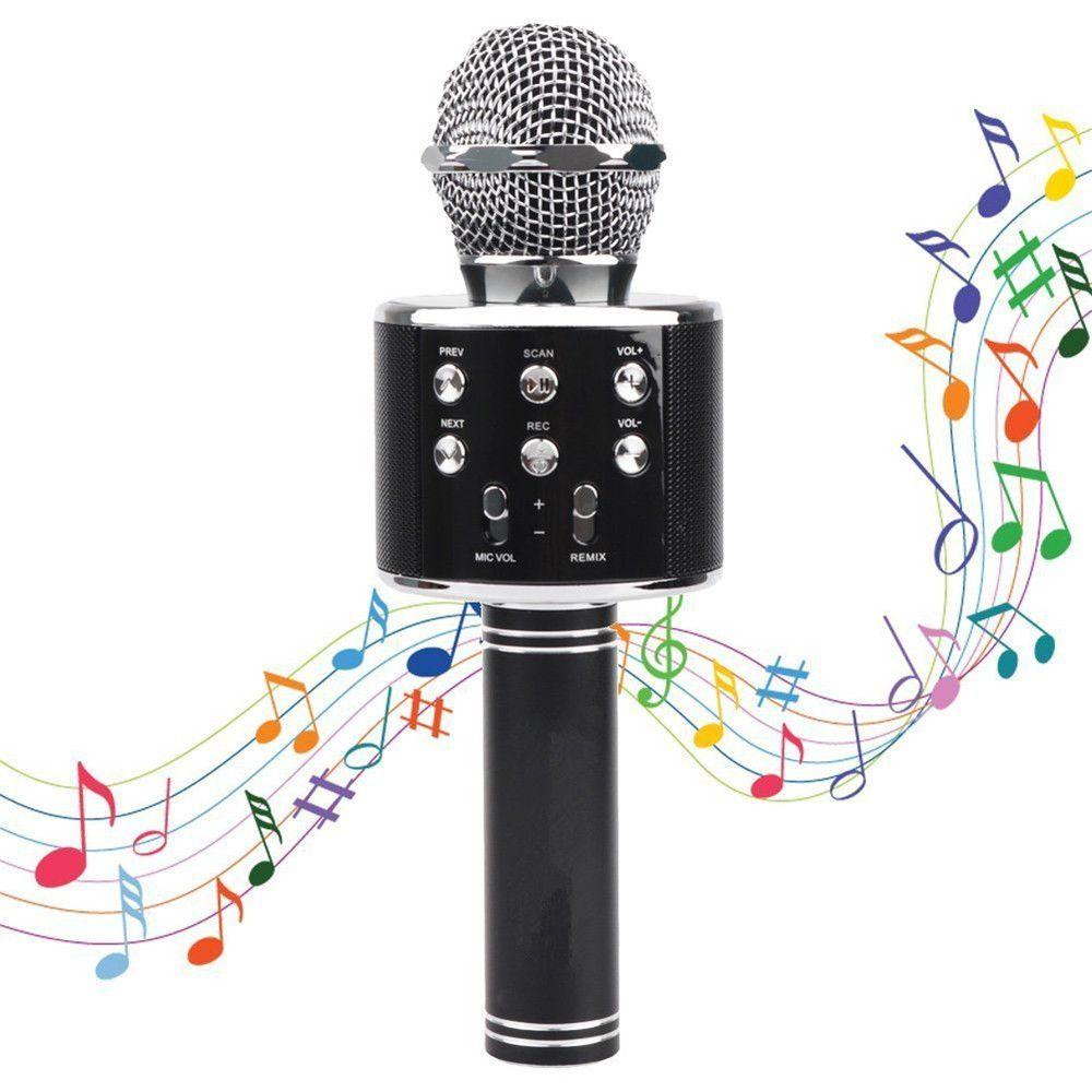 WS858 professional wireless microphone condenser karaoke mic bluetooth stand radio mikrofon mikrafon studio recording studio