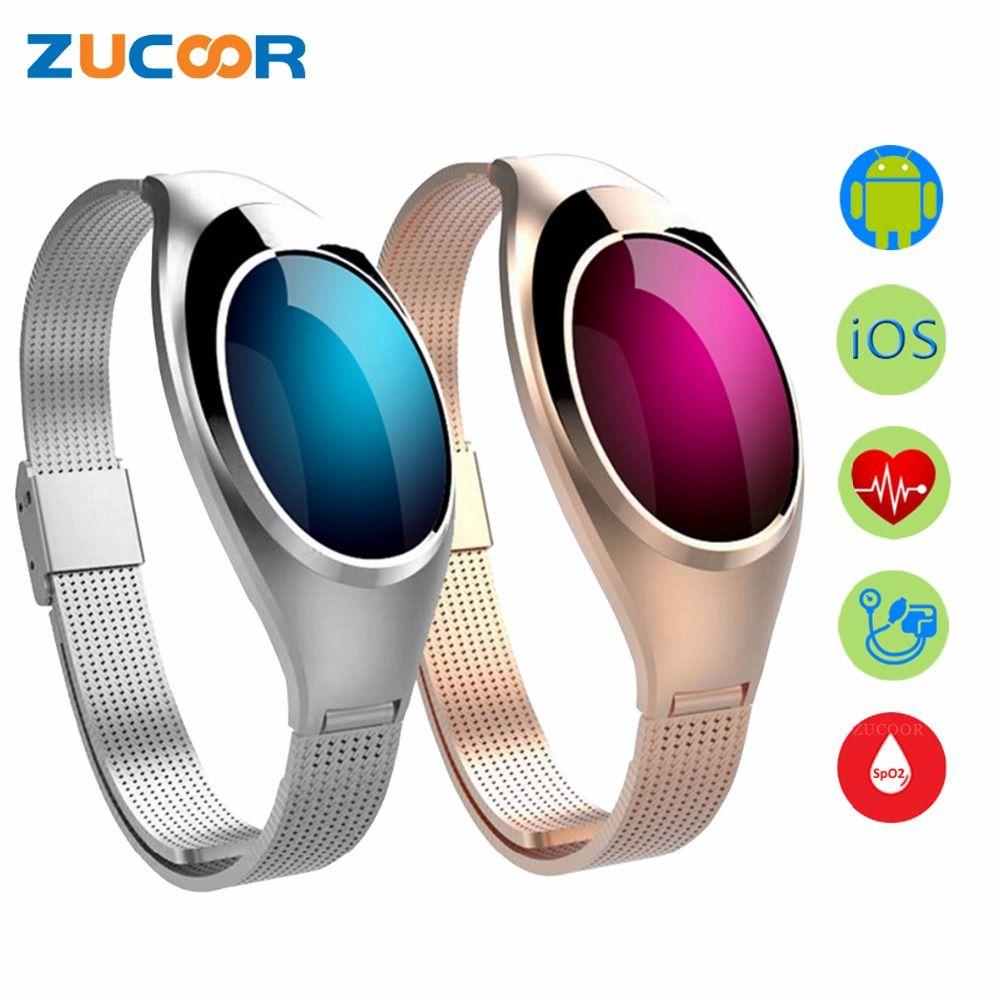 Smart Armband Z18 Bluetooth Armband Blutdruck Sauerstoff Pulsmesser Wasserdicht Schrittzähler Für iOS Android Frauen Männer