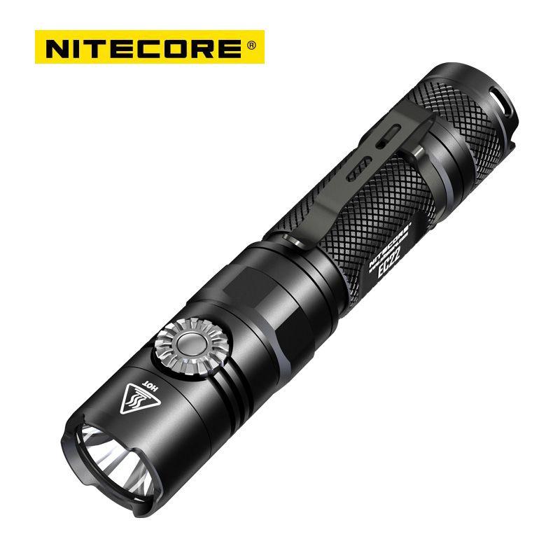 2018 New Nitecore EC22 CREE XP-L HD V6 1000 Lumens LED Infinitely Variable Brightness Flashlight