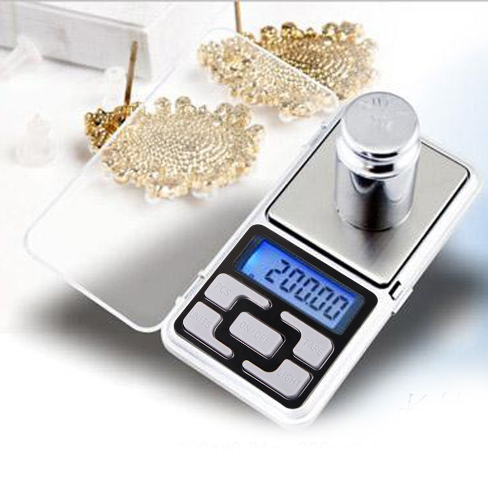 200g x 0.01g LCD Digital Pocket Scales Portable Jewelry Balance Measuring Scales with Blue Backlight Kitchen Tools