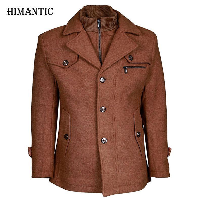 Brand New Winter Wool Coat Slim Fit Jackets Fashion Outerwear Warm Man Casual Jacket Overcoat Pea Coat Plus Size M-XXXXL