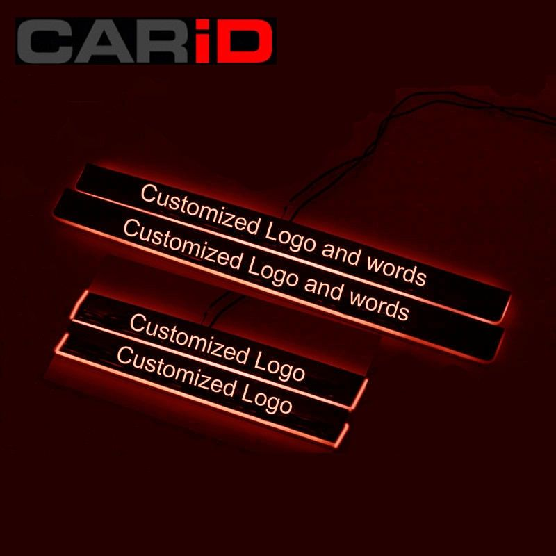 Custom cost link--LED Car Scuff Plate Trim Pedal Door Sill Pathway Moving Welcome Light