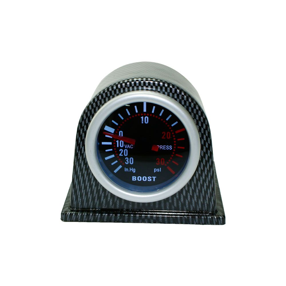 CNSPEED Free shipping 2 '' 52mm Universal Car Turbo Boost Gauge PSI Smoke Face with Carbon Fiber type Pod Car Meter Auto Gauge