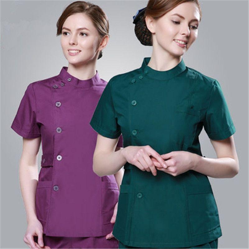 2017 mujeres Baratas de Verano hospital médico friega ropa de venta diseño slim fit dental spa salón de belleza uniforme de enfermera friega