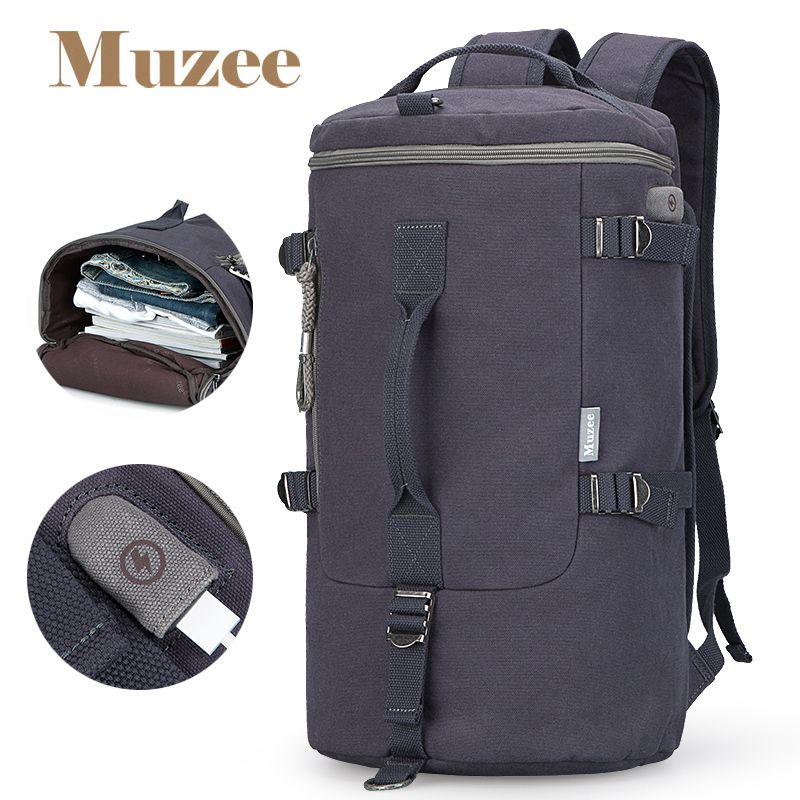 Muzee High Capacity Travel Bag New Arrival Cylinder package Multifunction Rusksack Male Fashion Backpack Drop Shipping