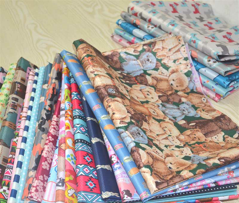 210D Cartoon PVC Coated Waterproof Oxford Fabric Upholstery Furniture Durable Tablecloth Bags Tents Outdoor Oilcloth Fabric