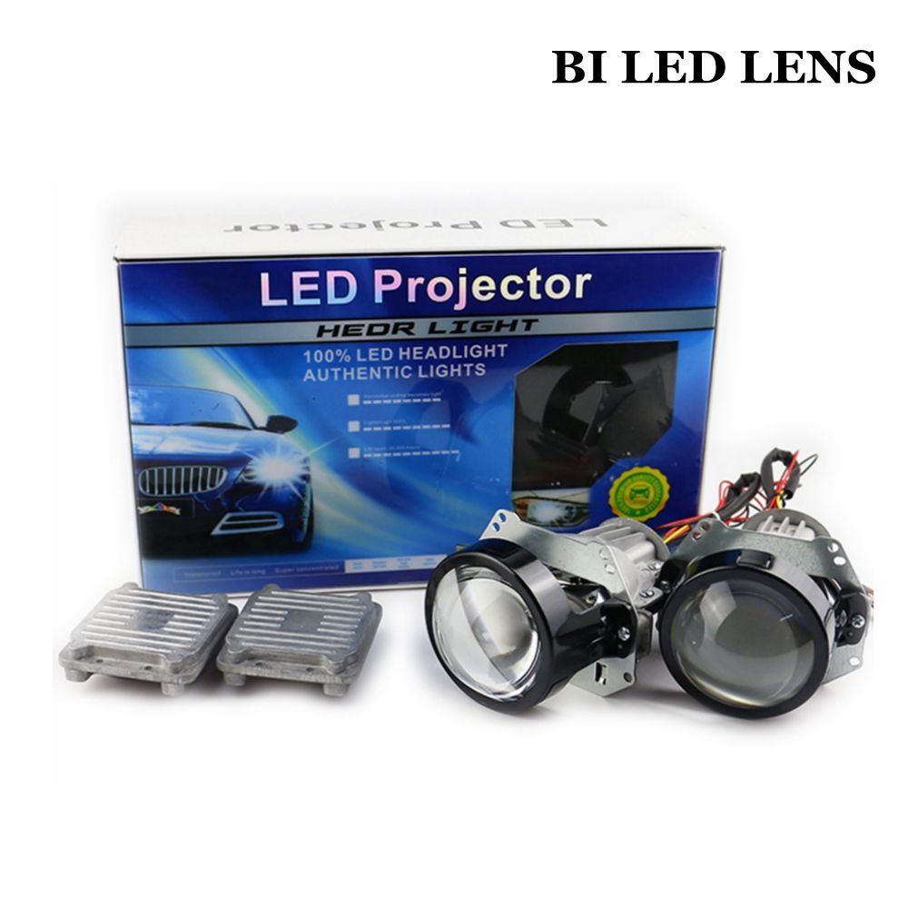 35W 3.0inch BI LED projector lens car retrofit modify universal LED Headlight High Low Beam hid xenon lens