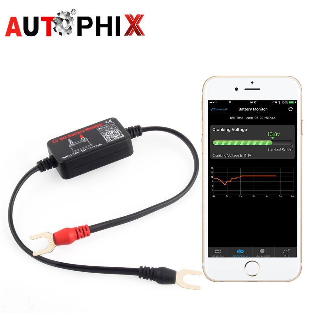 12 В Bluetooth 4.0 автомобилей Батарея Мониторы Тестер диагностический инструмент для Android для iOS iPhone цифровой анализатор Измерители аккумулятора ...