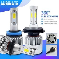 Turbo H1 Led Car Headlight H4 High/Low Beam Led Bulbs COB Chips H3 H7 H8 H9 H11 H13 HB3 HB4 H27 LED Fog Light 6500K 72W 8000LM