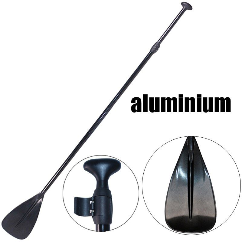 165-215cm SUP black extendable paddle oar SUP stand up paddle board for surfing board aluminium for inflatable boat A03001
