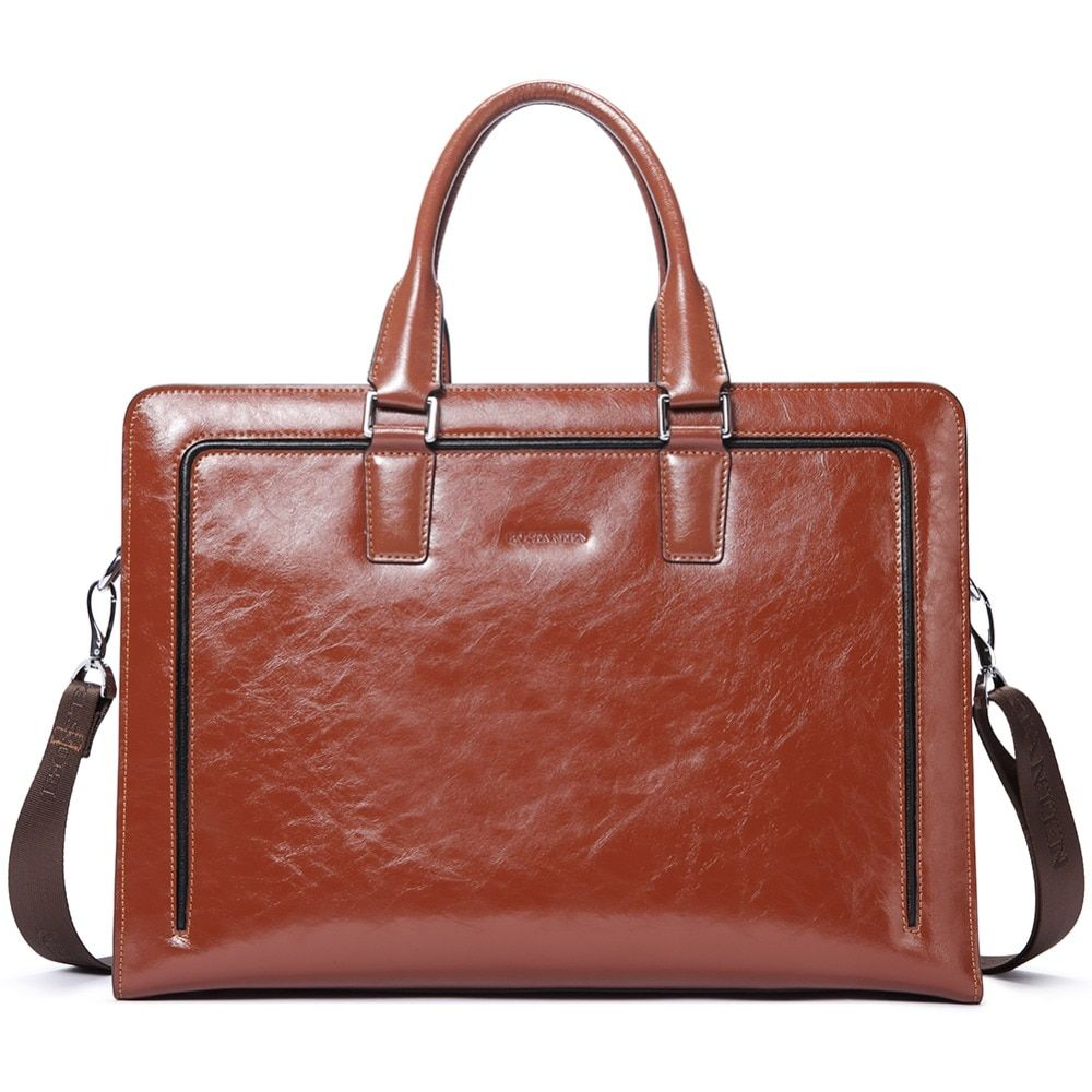 BOSTANTEN Echtem Leder Aktentasche Schulter 15,6 Laptop Business Vintage Dünne Messenger Taschen für Männer Frauen