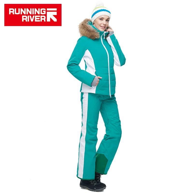 FLUSS Marke Ski Jacke Winter Warme Kapuzen Sport Jacken Professionellen outdoor-skianzug # N6410O6430