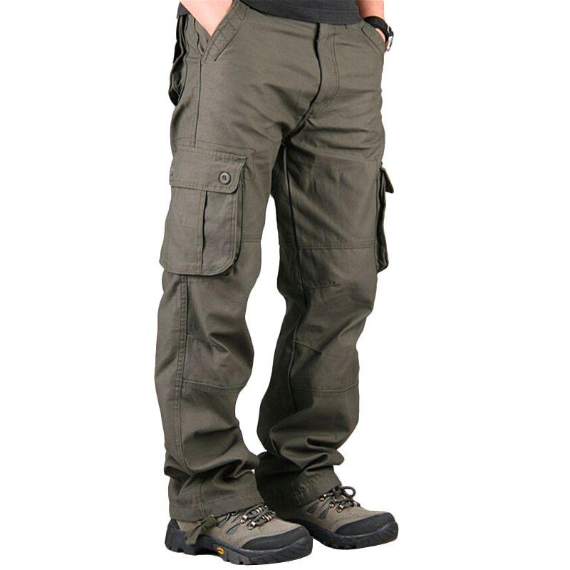 Брюки для девочек Мужские брюки карго Повседневное Для мужчин S Пант нескольких Карманный Военная Униформа общая Для мужчин на открытом воз...