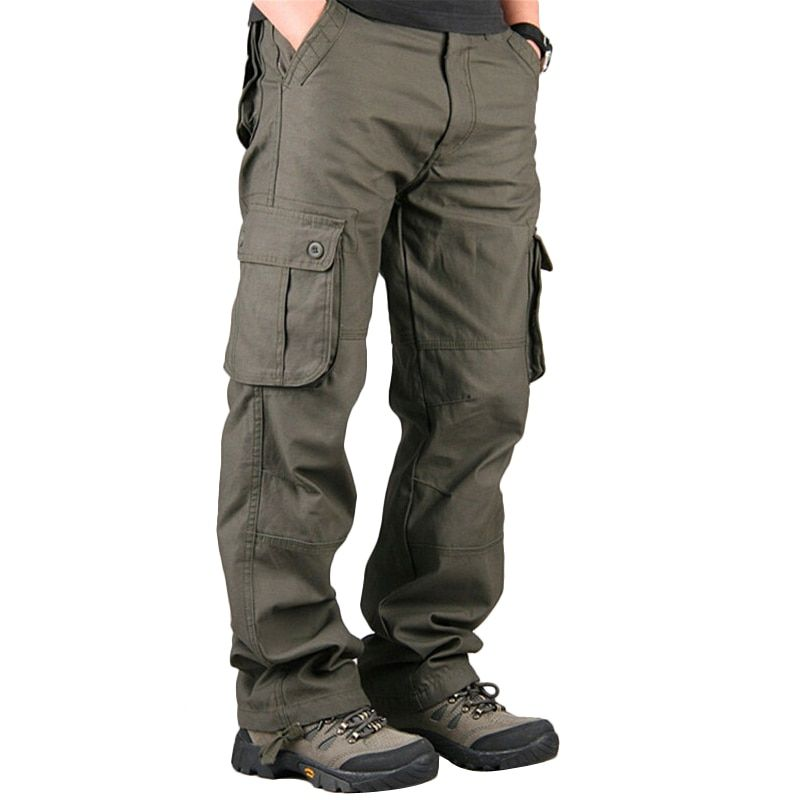 Pants Men's Cargo Pants Casual Mens Pant <font><b>Multi</b></font> Pocket Military Overall Men Outdoors High Quality Long Trousers Plus size 30-40