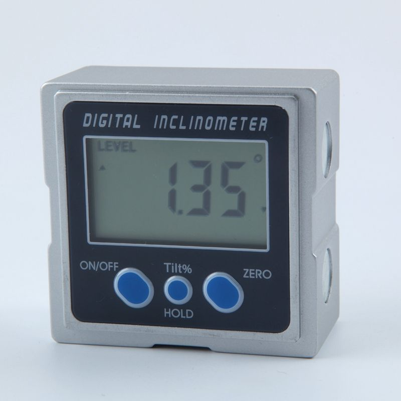Mini Digital Protractor 360 Degrees 3 Magnet Base Digital Inclinometer Electronic Protractor Digital Bevel Box Angle Gauge Meter